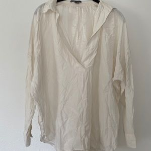 Silk vince oversized blouse
